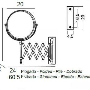 ESPEJO DE AUMENTO 5x PLEGABLE